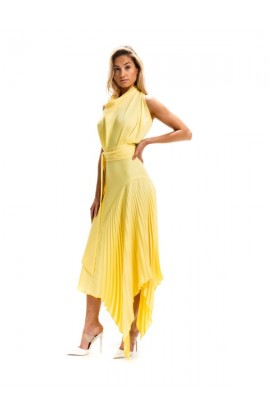 Kevan Jon Perla Cowl Dress Yellow