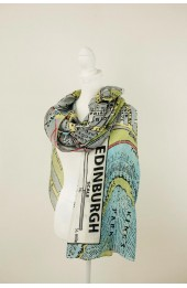 One Hundred Stars Edinburgh Map Scarf