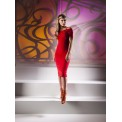 Kevan Jon Nancy Bardot Dress Red