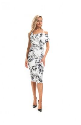 Kevan Jon Cosmo Dress Black/White