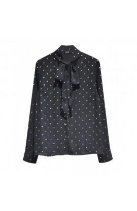 Four Leaf Clover Shirt Black