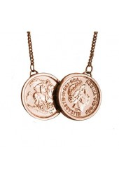 Two Coin Necklace Rose Gold