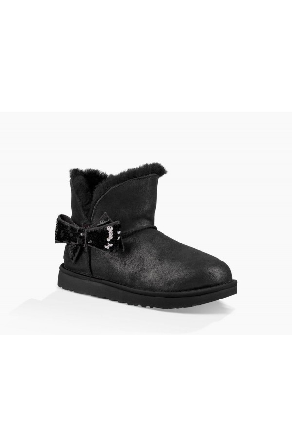 UGG Mini Sequin Bow Boot 1096012 Black