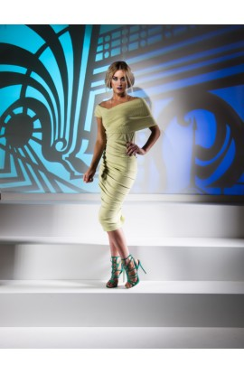 Kevan Jon Halia Dress Lime