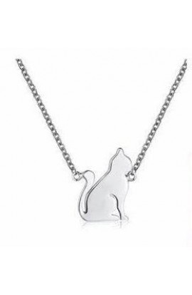 Cat Necklace Silver
