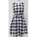Amelia Dogtooth Dress