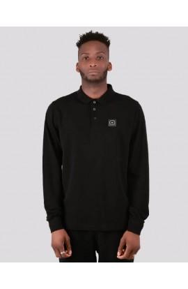 Siren Long Sleeve Polo Shirt Black