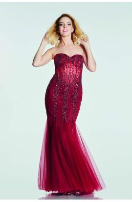 Strapless Bead Detail Mermaid Dress