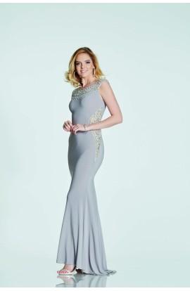 Jewel Collar And Side Dress