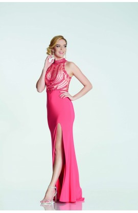 Embroidered and Sequin Bodice Dress