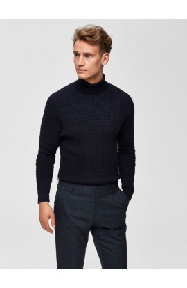 Carlos Roll Neck Navy
