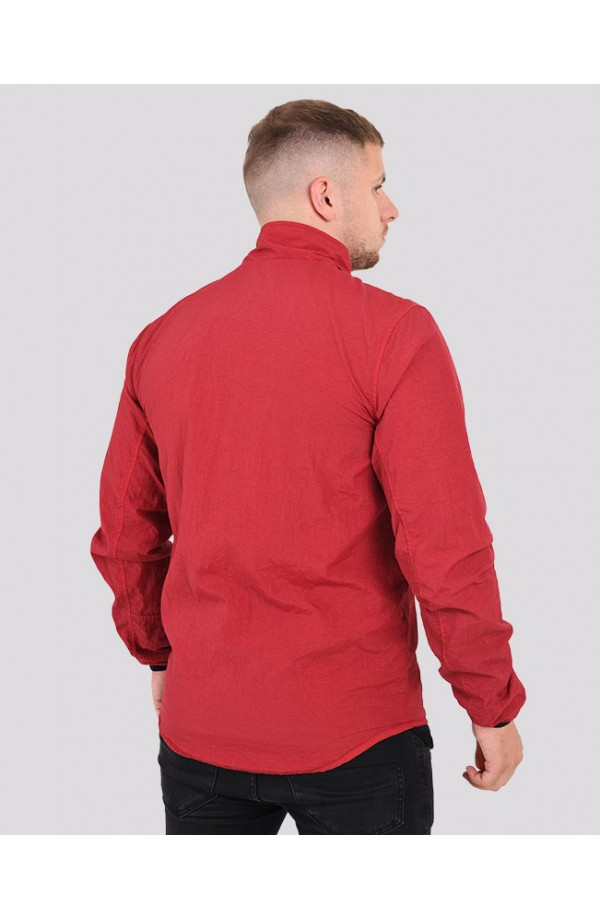 Garment Dyed Overshirt  Red