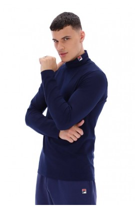 Classic Roll Neck Top Navy
