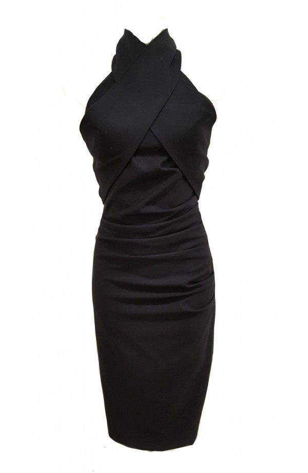 Kevan Jon Akash High Neck Dress