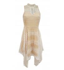 Hanky Hem Dress White