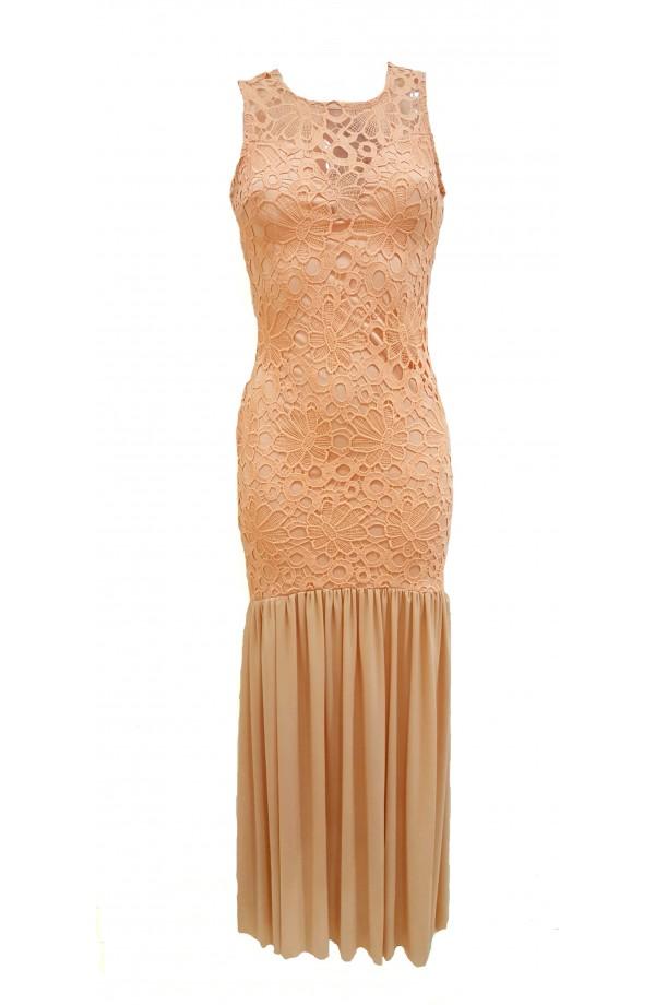 Lace Top Fishtail Dress