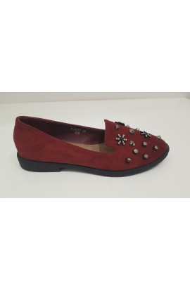 Stud and Flower Shoes Red