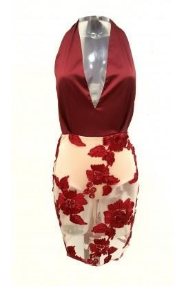 Sheer Bottom Floral Dress