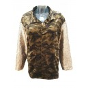 Camouflage Sequin Sleeve Jacket Green
