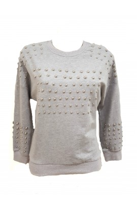 Ball Stud Sweater Grey