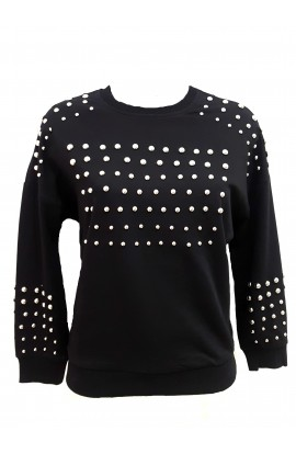 Ball Stud Sweater Black
