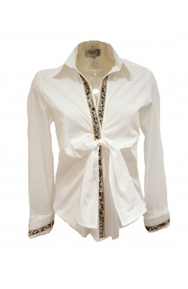 Chain Detail Shirt White