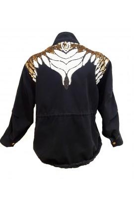 Sequin Back Jacket Black