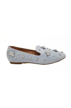 Fly Embellished Shoes Blue