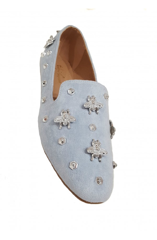 Fly Embellished Shoes Blue