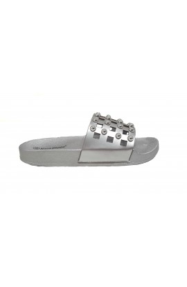 Stud Sliders Silver