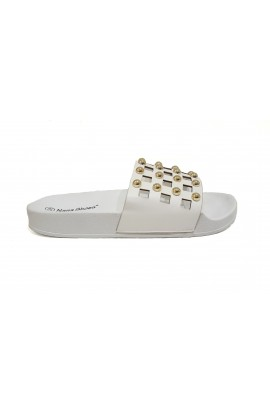 Stud Sliders White