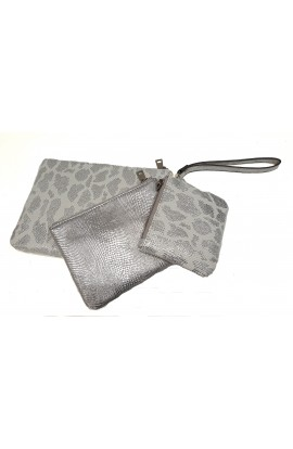 3 Piece Wallet Set Silver