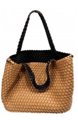 Reversible Weave Beach Bag With Inner Bag