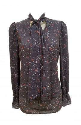 Tie Front  Blouse Galaxy  Print