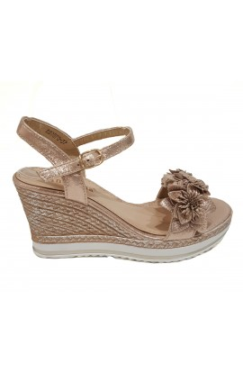 Flower Front Wedge Gold