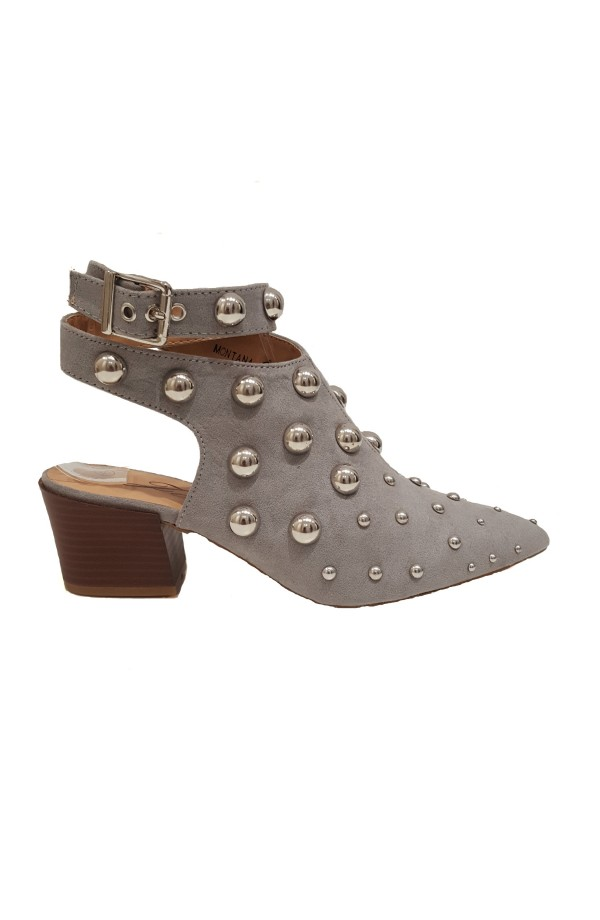 Ball Stud Shoe Boot Grey