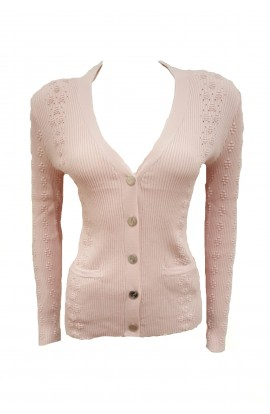 Anchor Button Cardigan Pink