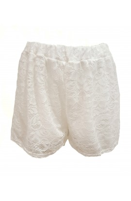 Lace Shorts White