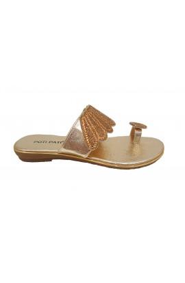 Jewel Toe Sandal Gold