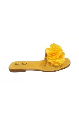 Flower Flip Flop Yellow