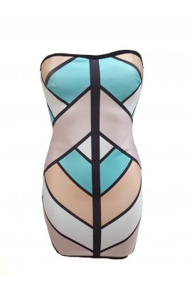Bandage Strapless Dress