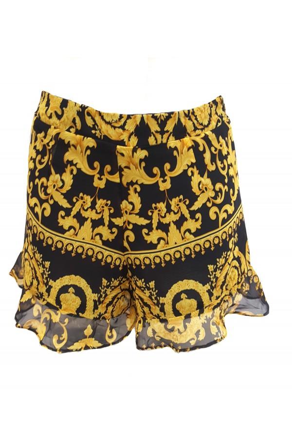 Baroque Frill Top & Shorts Set