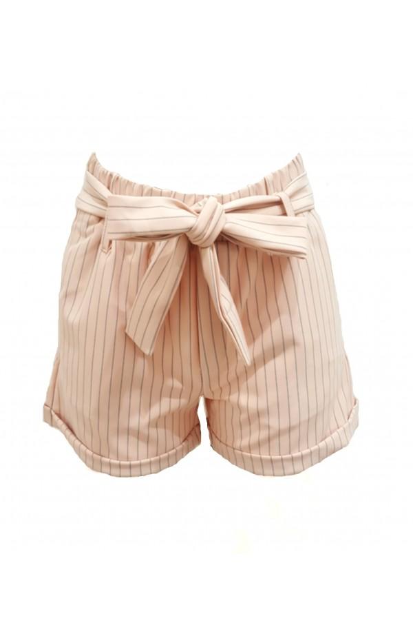 Highwaist Pinstripe Shorts Pink