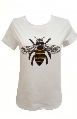 Bee T-shirt White