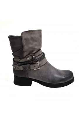 Slouch Boot Grey