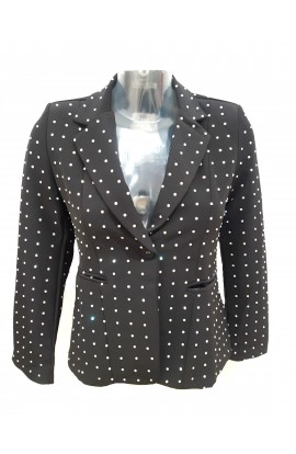 Crystal Blazer Black