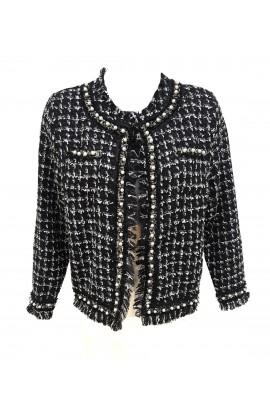 Boucle Jacket Black