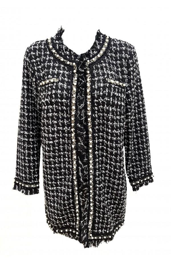 Boucle Coat Black