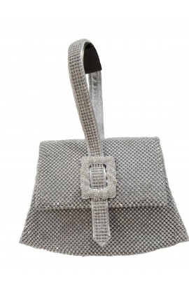 Bling Boucle Detail Bag Silver