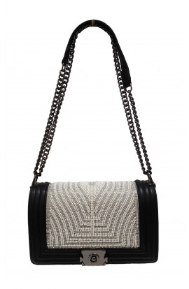 Flap Front Pearl & Crystal Bag (More colours)